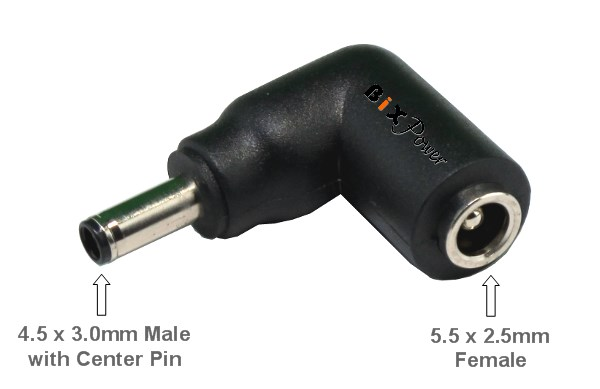 5.5 x 2.1mm DC Female to 7.4 x 5.0mm DC Male Power Plug Tip for Dell Power